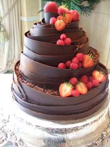 Dark Wrap Wedding Cake