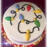Fairy Light Christmas Cake