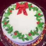 Wreath Christmas Cake