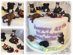 Cat Lady Birthday Cake