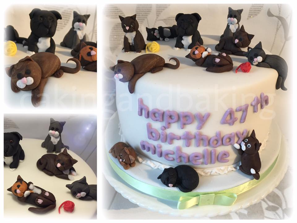 Cat Lady Birthday Cake Caking And Baking Sweet As Leamington
