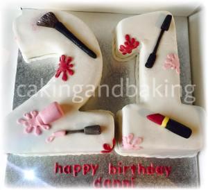 21St Birthday Make Up Cake