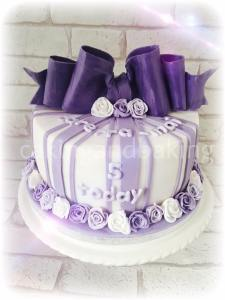 Cadbury Purple Bow Cake