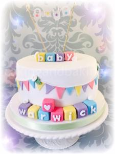 Baby Shower New Baby Bunting Cake