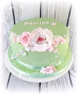 Roses & Peony Birthday Cake
