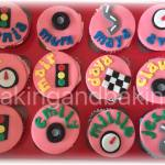 Go Karting Cupcakes Party Favours
