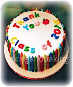 Teachers Thank You Crayon Cake