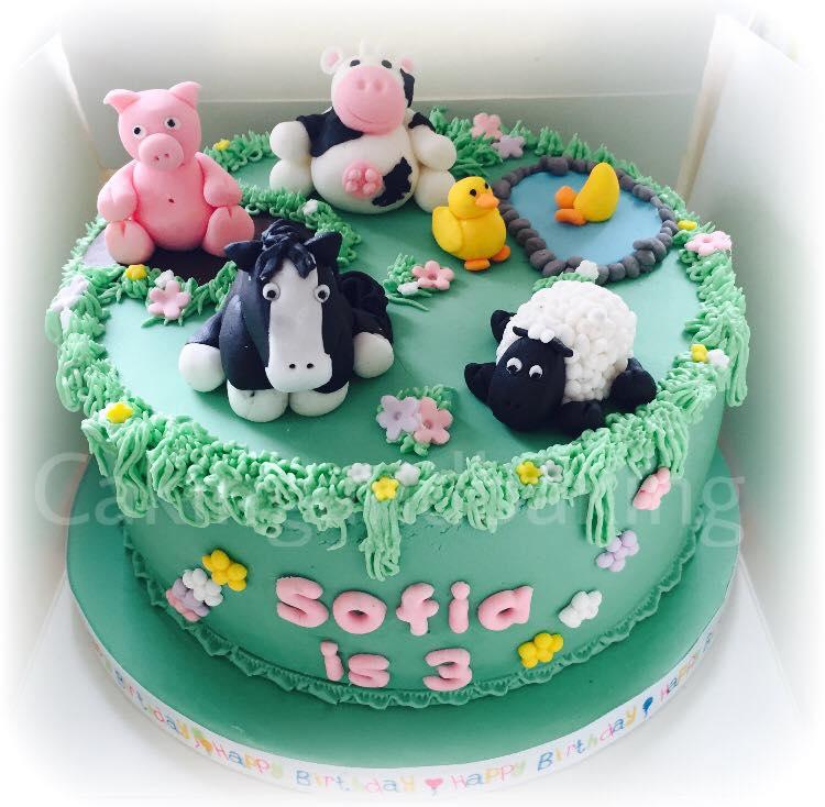 Terrific Old Macdonald Farm Cake Caking And Baking Leamington Spa Funny Birthday Cards Online Unhofree Goldxyz