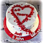 Ruby Wedding Anniversary Cake
