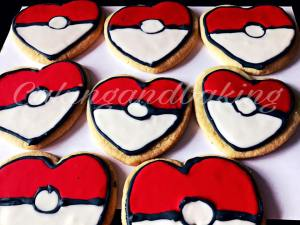 Valentine Pokemon Cookies