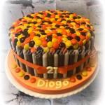 Reece's Pieces Birthday Cake