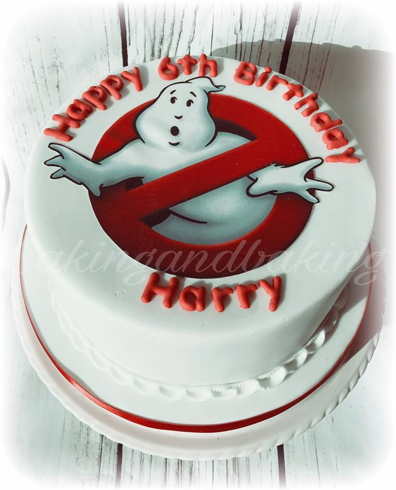 Outstanding Ghostbusters Birthday Cake Caking And Baking Leamington Spa Funny Birthday Cards Online Alyptdamsfinfo