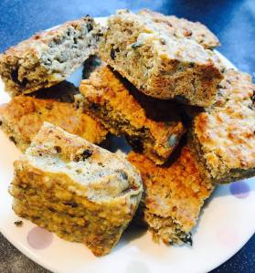 Gluten Free, Dairy Free, Vegan banana & raisin power bars
