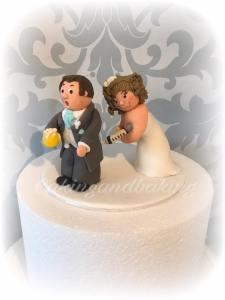 Nurse Wedding Cake Topper