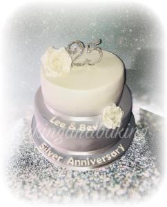 Silver Wedding Cake