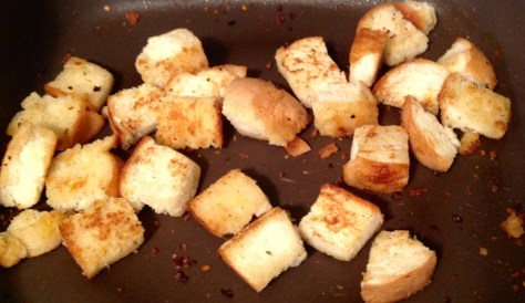 Braised Cabbage Croutons