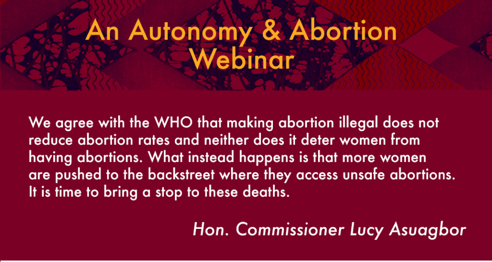 Autonomy And Abortion Webinar Posters (2017)