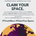 #TimeIsNow : Let's Claim Our Space!
