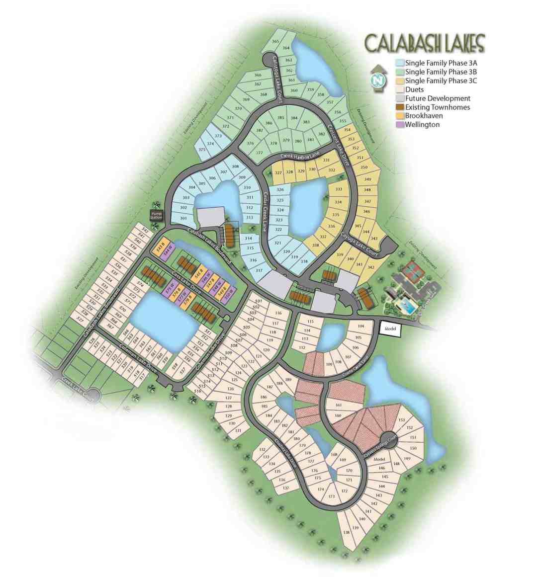 Calabash Lakes Community Map