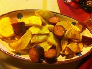 cucina tipica calabrese salsiccia e patate