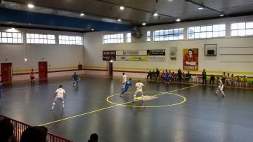 L'Enotria Five Soccer durante la costruzione di una manovra offensiva