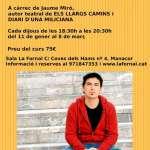 Curs de Teatre documental impartit pel dramaturg serverí Jaume Miró, a la Sala La Fornal de Manacor.