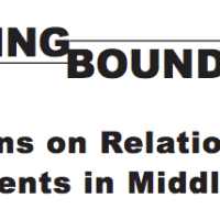 Shifting Bounaries: lesson on relationships for studenrts in middle school