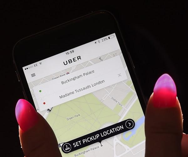 Image Description: Uber app on cellphone