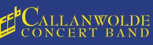 Callanwolde Concert Band Logo with Blue Background