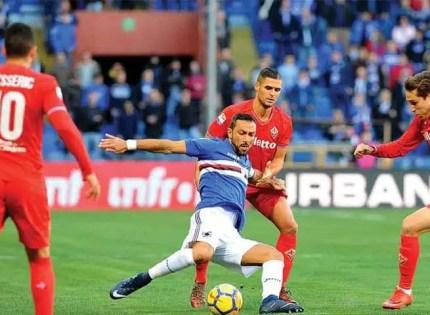 Quagliarella-Sampdoria-Fiorentina