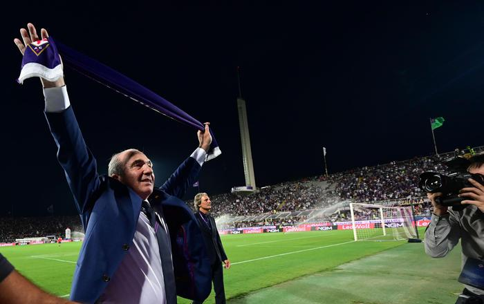 Italian-American businessman, Rocco Commisso, owner of ACF Fiorentina, before the Italian Serie A soccer match between ACF Fiorentina and SSC Napoli at the Artemio Franchi stadium in Florence, Italy, 24 August 2019 ANSA/CLAUDIO GIOVANNINI