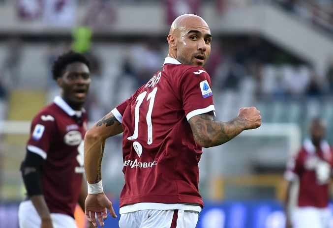 TURIN, ITALY - OCTOBER 27:  Simone Zaza of Torino FC celebrates a goal during the Serie A match between Torino FC and Cagliari Calcio at Stadio Olimpico di Torino on October 27, 2019 in Turin, Italy.  (Photo by Valerio Pennicino/Getty Images)