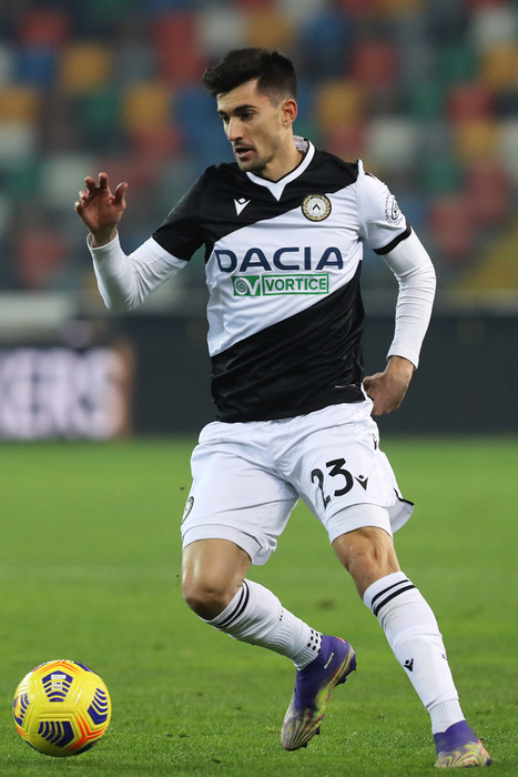 Udinese's Ignacio Pussetto in action during the Italian Serie A soccer match Udinese Calcio vs FC Crotone at the Friuli - Dacia Arena stadium in Udine, Italy, 15 December 2020. ANSA/GABRIELE MENIS