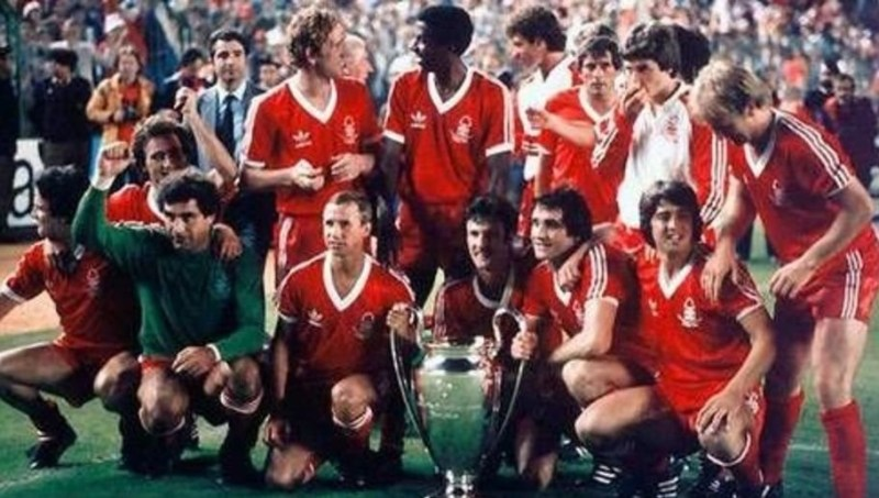 Il Nottingham Forest vincitore della Coppa dei Campioni del 1979