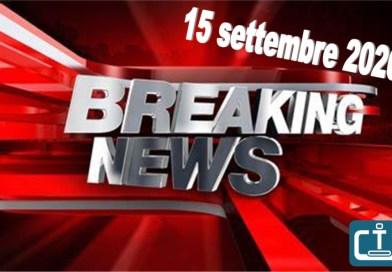 Breaking news subbuteo 15 settembre