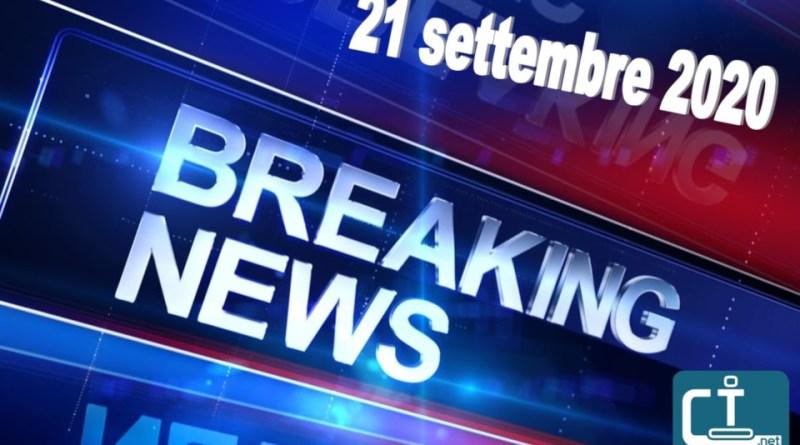 breaking news subbuteo 21 settembre 2020