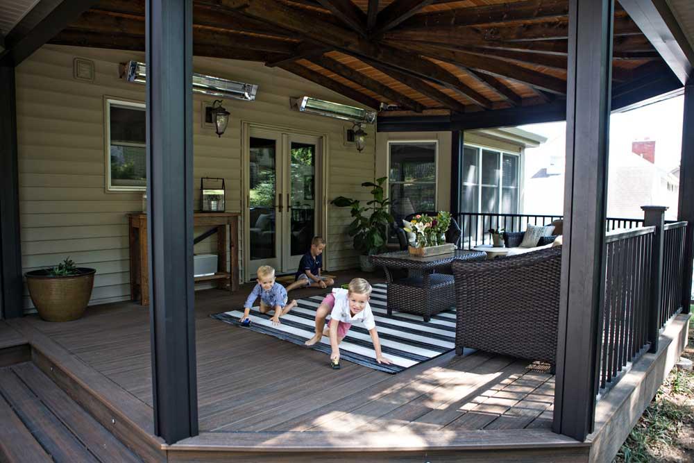 outdoor rec room california custom decks