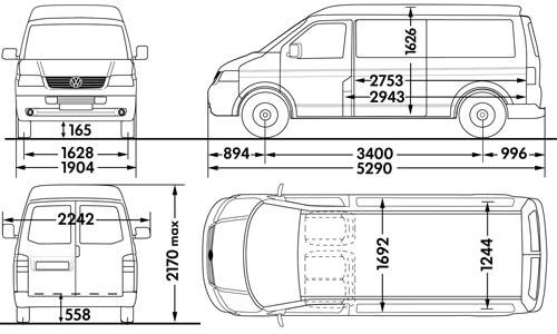 volkswagen van interior dimensions