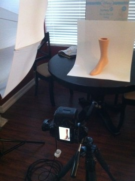 sock pictures behind the scenes