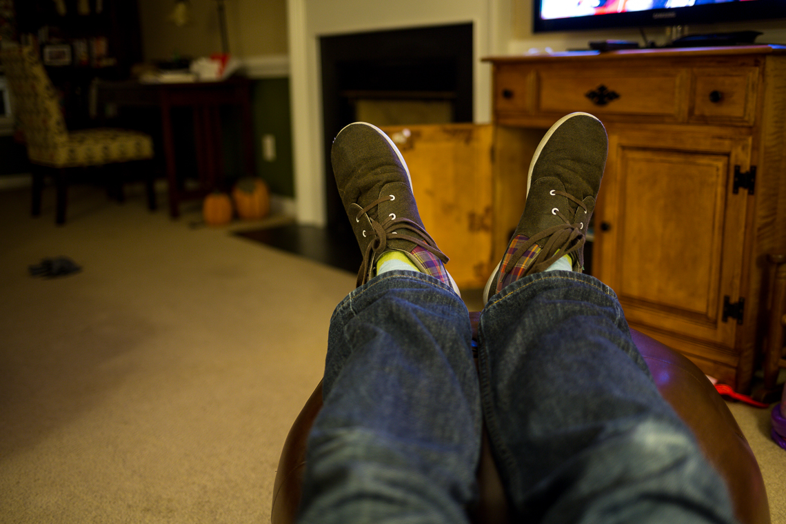 Long, busy, tiring day, so I put my feet up