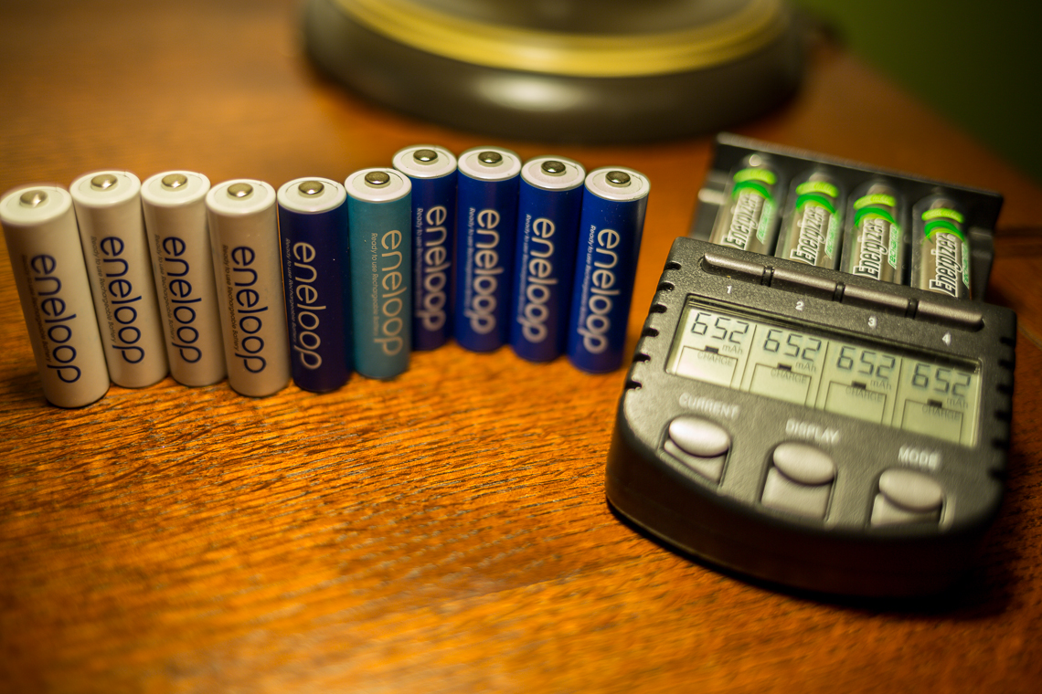 Panasonic Eneloop rechargeable AA batteries with the La Crosse Technology BC-700 charger