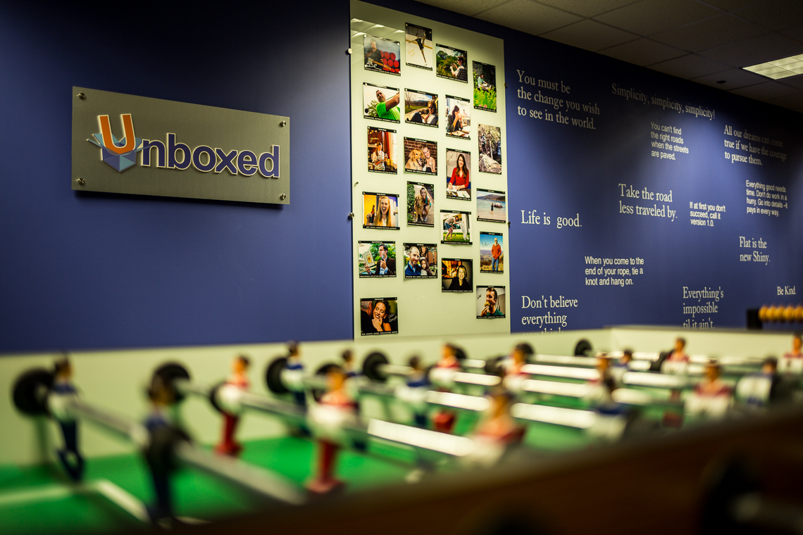 Foosball table at Unboxed Technology