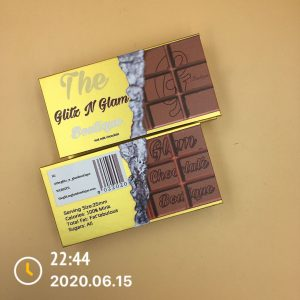 Empty Chocolate Eyelash Packaging
