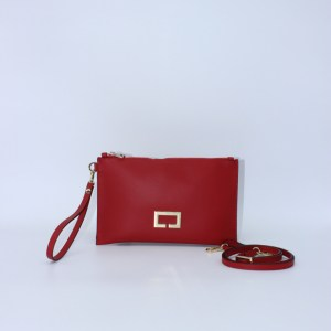 "Loristella pochette M in pelle ""Janis"" Rosso 2466N.Rosso"