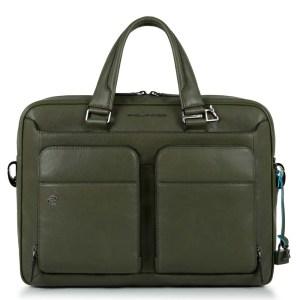 """Piquadro borsa da lavoro in pelle """"B3 – Black Square"""" Verde CA2849B3.VE"""