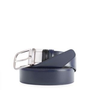 """Piquadro cintura reversibile in pelle """"C11"""" Nero/blu CU3049C11.NB"""