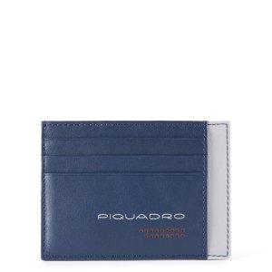 "Piquadro porta carte di credito in pelle ""UB00R – Urban"" Blu PP2762UB00R.BLGR"