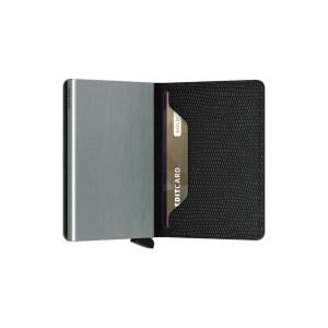 """Secrid portafogli compatto in alluminio e pelle """"Slimwallet Rango"""" Nero SRA.BLACK"""