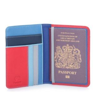 "Mywalit porta passaporto in pelle ""Classic"" Blu 283.127 royal"