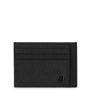"""Piquadro porta carte di credito in pelle """"B3 – Black Square"""" Nero PP2762B3R.N"""